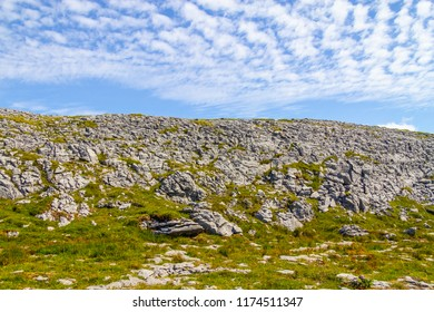 Rocks over mountain in Burren way trail, Ballyvaughan, Clare, Ireland