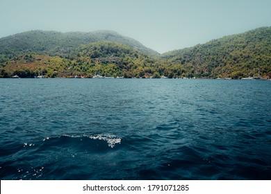 Rocks overlooking the Mediterranean Sea near Dalian