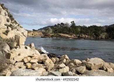 Rocks at the Pacific Coast, California, USA