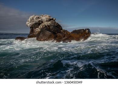 Rocks in the Pacific Ocean near Isabela Island, Galapagos Island