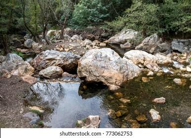 Rocks in the river ,Region Figueiró dos Vinhos - Portugal.
