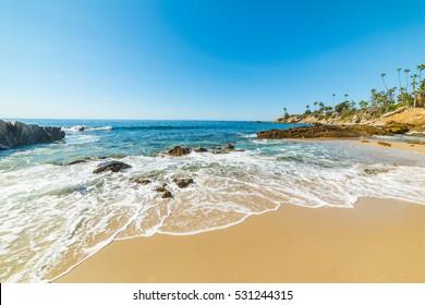 rocks and sand in Laguna Beach, California