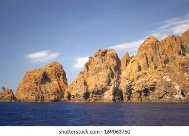 Rocks of Scandola National Reserve in Corsica, France