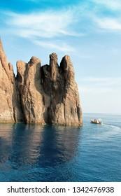 Rocks of Scandola Nature Reserve, UNESCO World Heritage site, Corsica, France