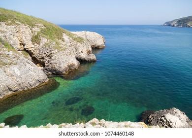 rocks in the sea , beautiful landscape in agva , Turkey