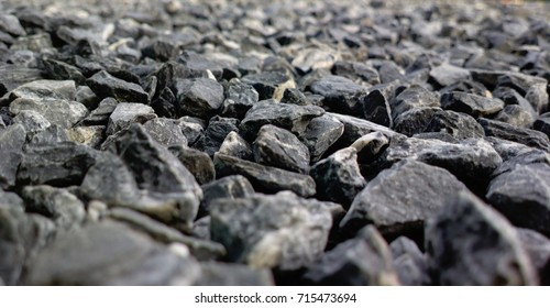 Rocks, small rocks or gravel Used for construction of buildings, roads and for landscaping (close-up).