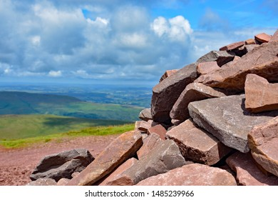 The rocks at the top of Pen y Fan, Wales