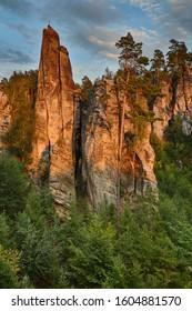 Rocks towers in Prachov rocks