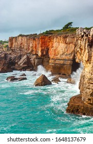Rocks vs water. Amazing view at Boca do Inferno, Hell's Mouth – Cascais, Portugal