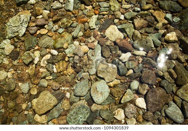 Rocks Water Siouxon Creek Washington Gifford Stock Photo