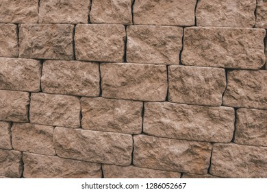 Rock/stone pattern in exhibition space.