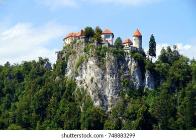 Rocktop Castle in Bled, Slovenia.