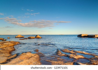 Rocky Baltic Sea in Sweden