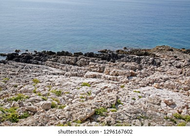 Rocky beach of Adriatic coast near Mali Losinj, island Losinj, Croatia, Europe, 1