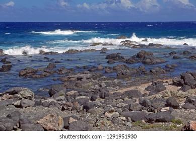 Rocky beach of Aruba