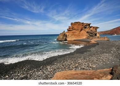 Rocky beach of El Golfo, Lanzarote