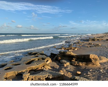 Rocky beach in Florida.