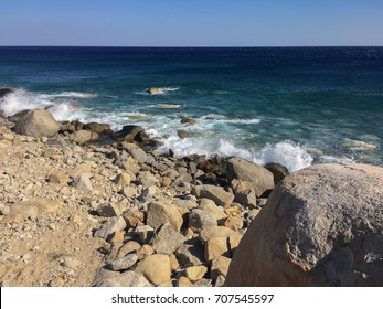 Rocky beach in Greek island, Ikaria