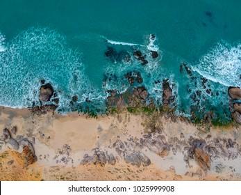 Rocky beach in Jericoacoara Brazil