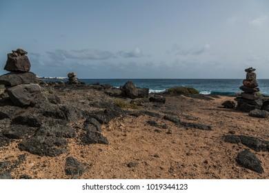Rocky beach at Lanzarote, Canary Islands, Spain