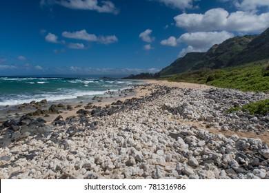 Rocky beach on Oahu North Shore