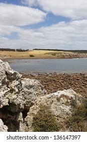 Rocky beach of Stokes Bay, Kangaroo Island, South Australia