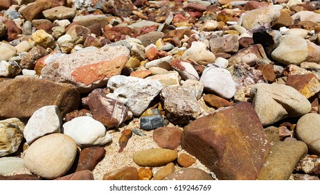 rocky beach and Stone texture background