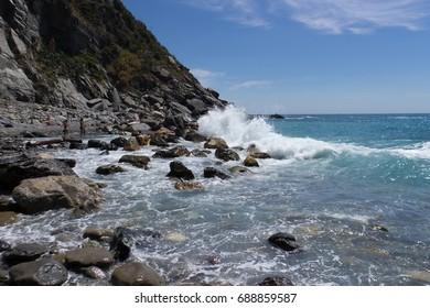 Rocky beach Tuscany Cinque Terre