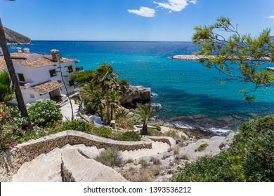 Rocky beaches of Moraira, Costa Brava, Spain