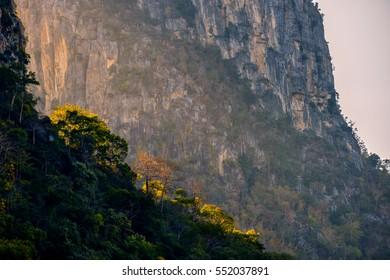 Rocky cliff in Lopburi Thailand.
