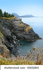 Rocky Cliffs on Kodiak Island, Alaska