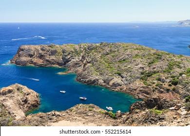Rocky coast at Cap de Creus (Costa Brava, Catalonia, Spain)