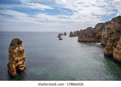 Rocky coast of Lagos, Algarve, Portugal