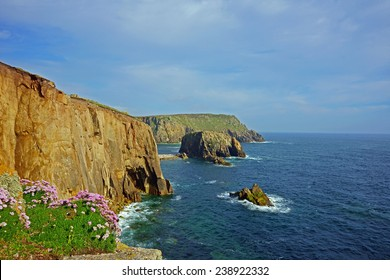 The rocky coast of Lands End, Cornwall, United Kingdom