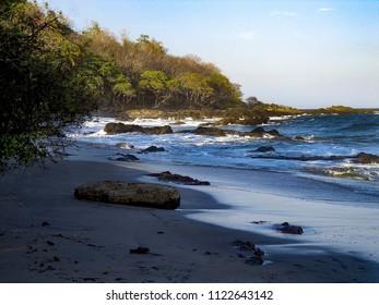 Rocky coast of Montezuma Costa Rica