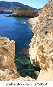 Rocky coast near Agua Armada, Cabo de Gata, Spain