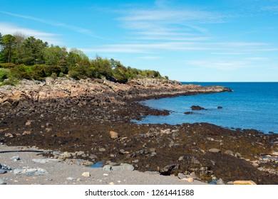 Rocky Coast on Marginal Way in Ogunquit, Maine, USA.