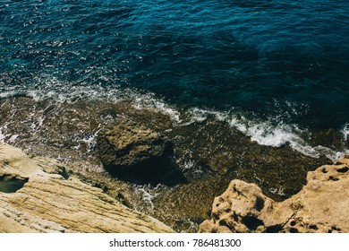 rocky coast and sea