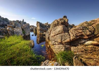 Rocky coastline of Bornholm