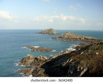 Rocky Coastline in Brittany,France