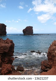 Rocky Coastline in Lanai Hawaii