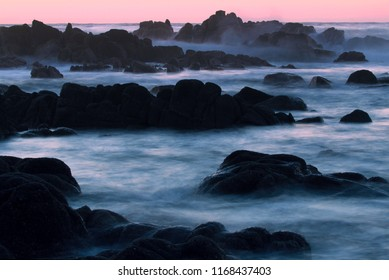 Rocky coastline of Monterey Peninsula near Big Sur in central California, USA