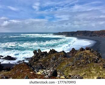 Rocky coastline on Snæfellsnes peninsula in Iceland