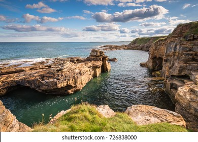 Rocky Cove at Rumbling Kern / At Rumbling Kern near Howick on the Northumberland coastline lies a small beach and cove, sheltered by small cliffs
