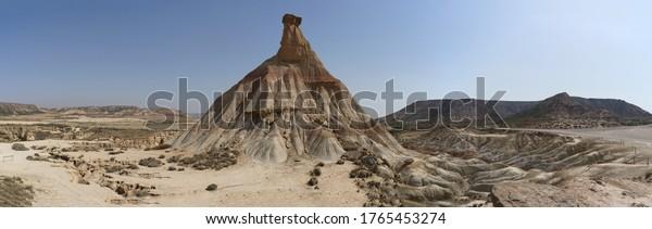 Rocky Desert Landscape Western. Desert Sahara.