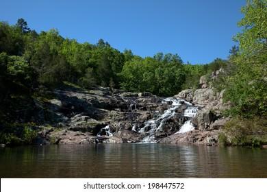 Rocky Falls of the Ozark National Scenic Riverways in Missouri.