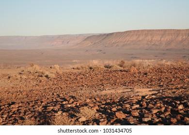 Rocky field at Fish River Canyon