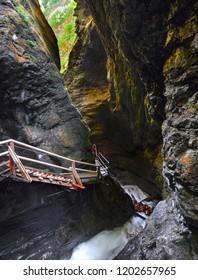 Rocky gorge in Austria