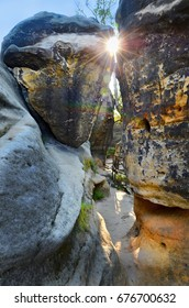 rocky gorges by the sunset