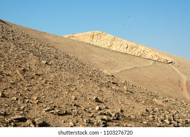 Rocky hill near Abu Simbel temple complex in Nubia, Southern Egypt.